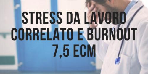 stress da lavoro correlato e burnout in sanità ECM