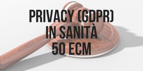 privacy gdpr in sanità ECM