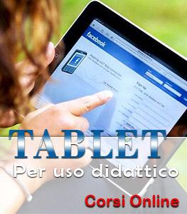tablet per uso didattico corsi online